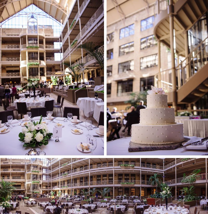 Interior of IMS Design Center wedding