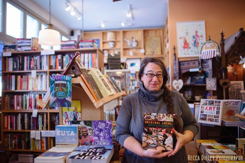 Original Local author photo in Birchbark Books