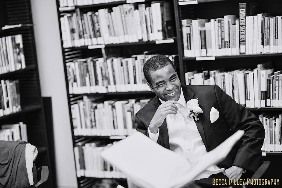 groom in library