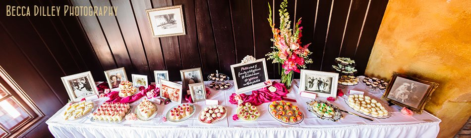 panorama of dessert table at minnesota boat club on raspberry island st paul mn