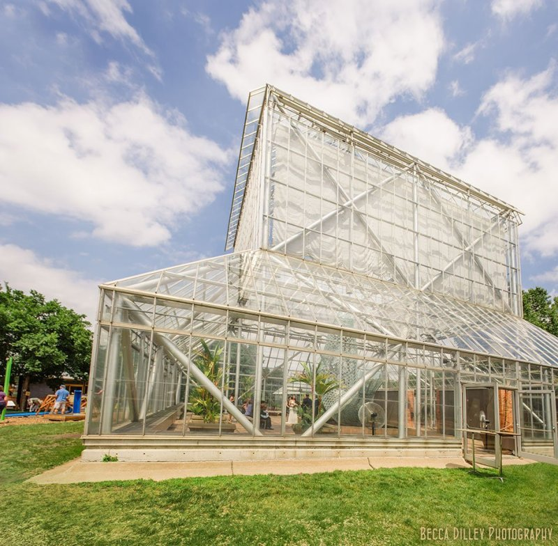 wedding ceremony at cowles conservatory walker art center minneapolis