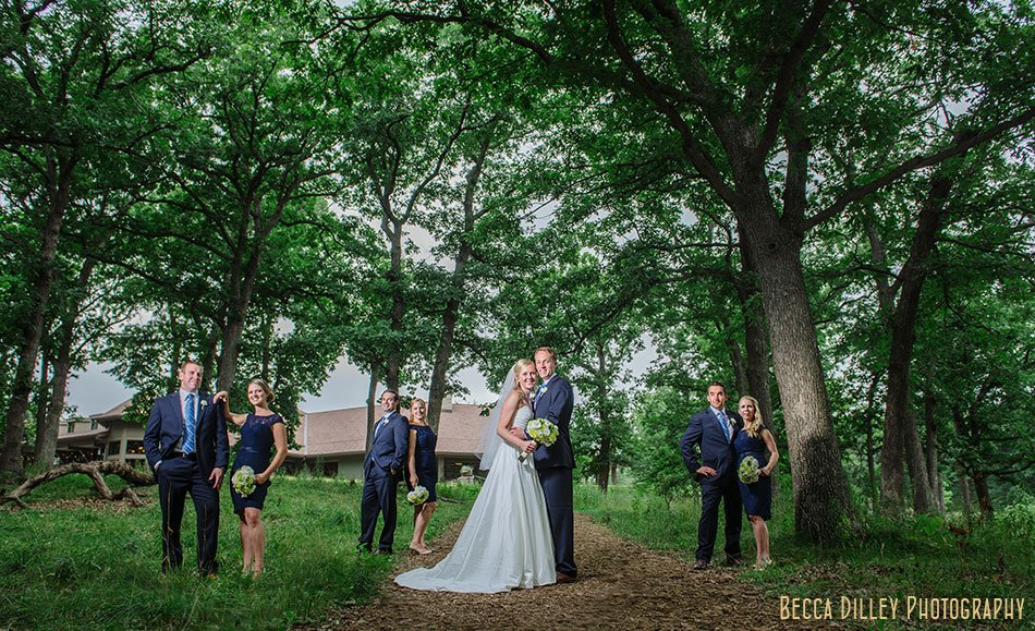 flash composite of wedding part at silverwood park