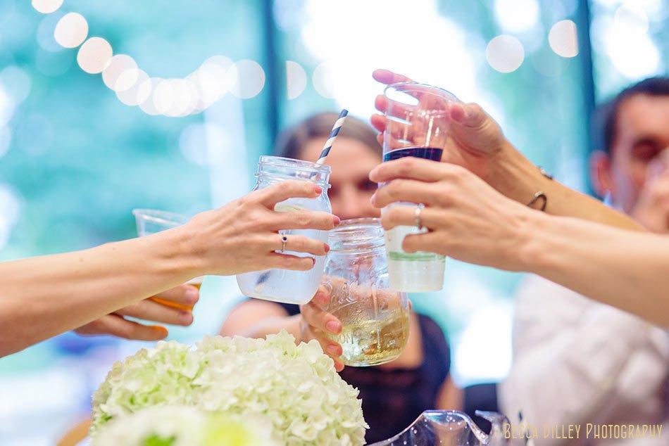 toasts at silverwood park wedding