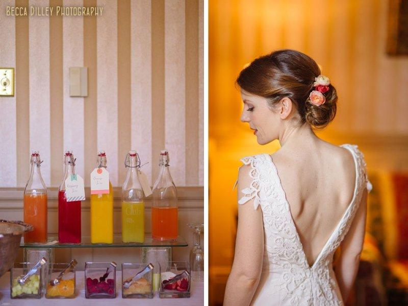 bride with deep back wedding gown minneapolis club wedding
