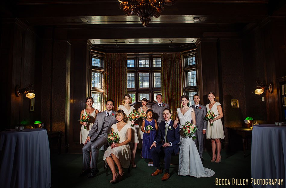 flash composite wedding party at minneapolis club wedding