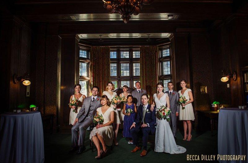 flash composite wedding party at minneapolis club wedding