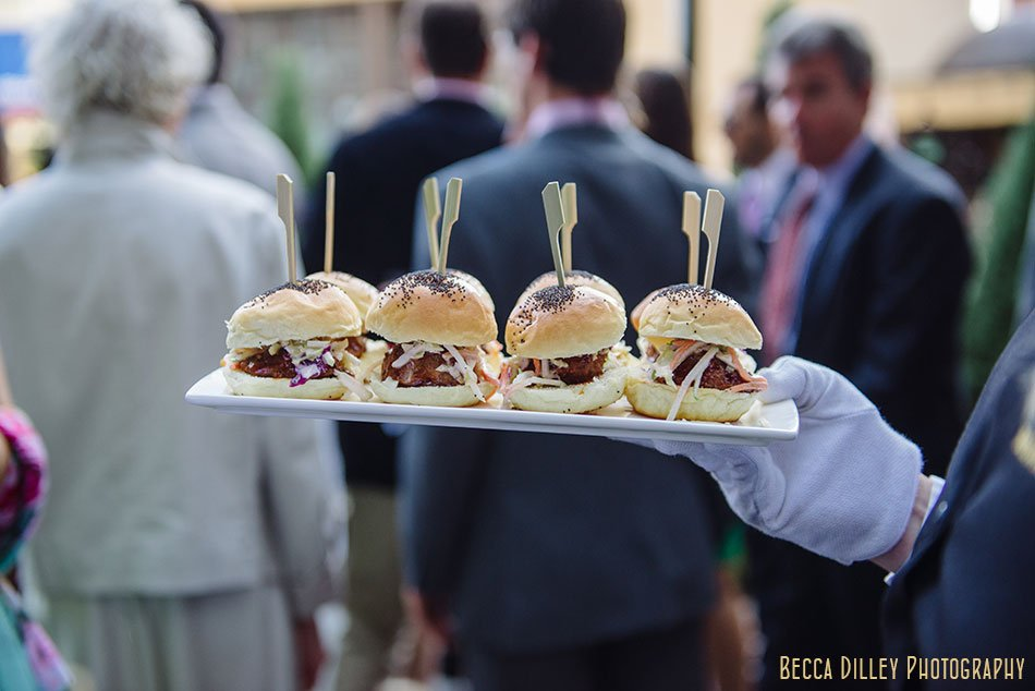 sliders for cocktail hour minneapolis club wedding