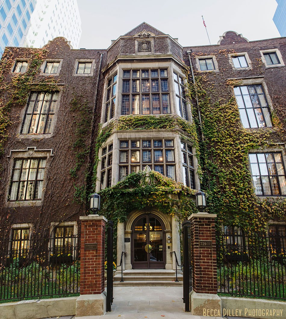 Minneapolis club wedding exterior