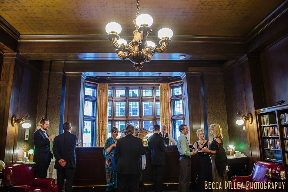 cocktail hour Minneapolis club wedding