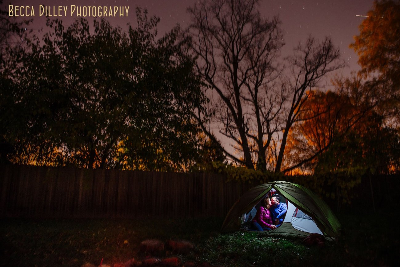 minneapolis-engagement-photographer-best-night-portrait-in-tent-with-sky