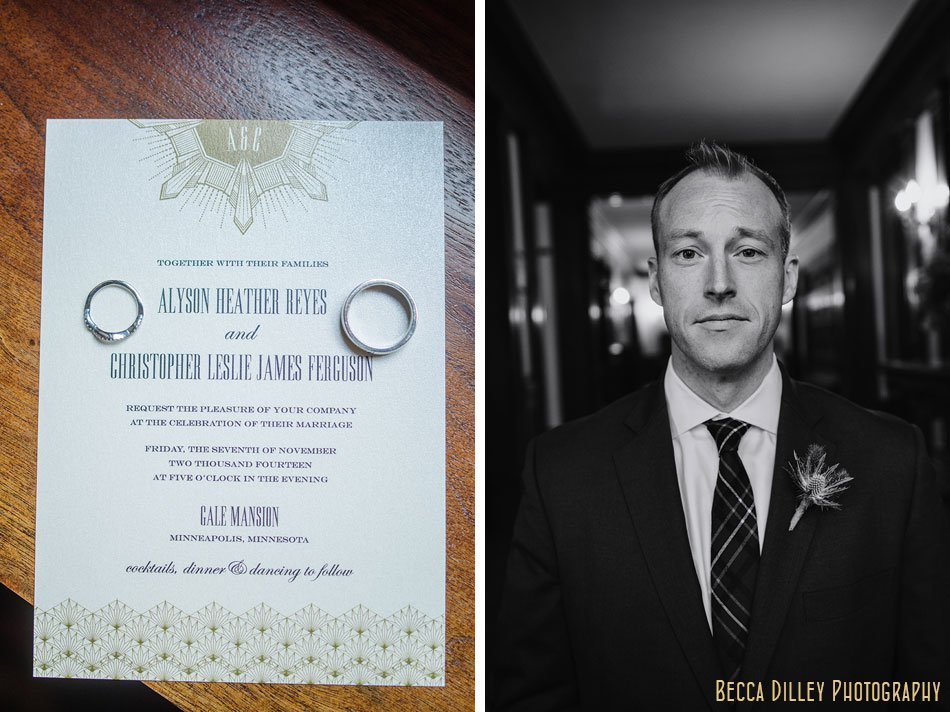 timeless groom minneapolis wedding at gale mansion