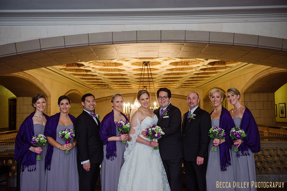 wedding party at university club st paul