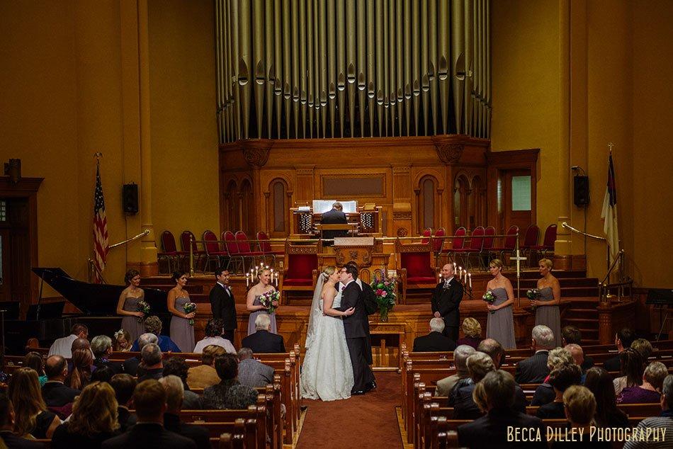 wedding ceremony at Central Presbyterian st paul