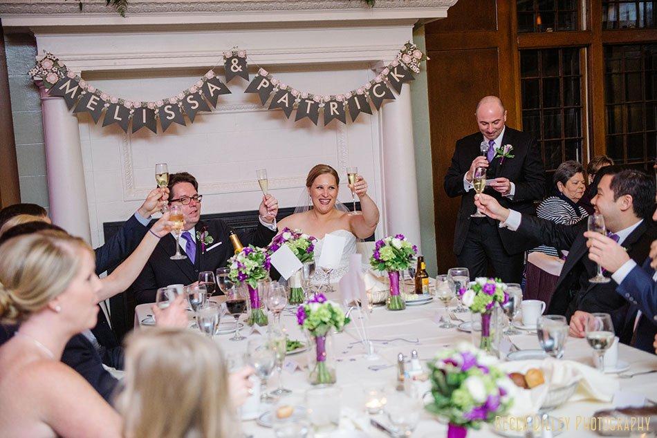 toasts st paul university club wedding