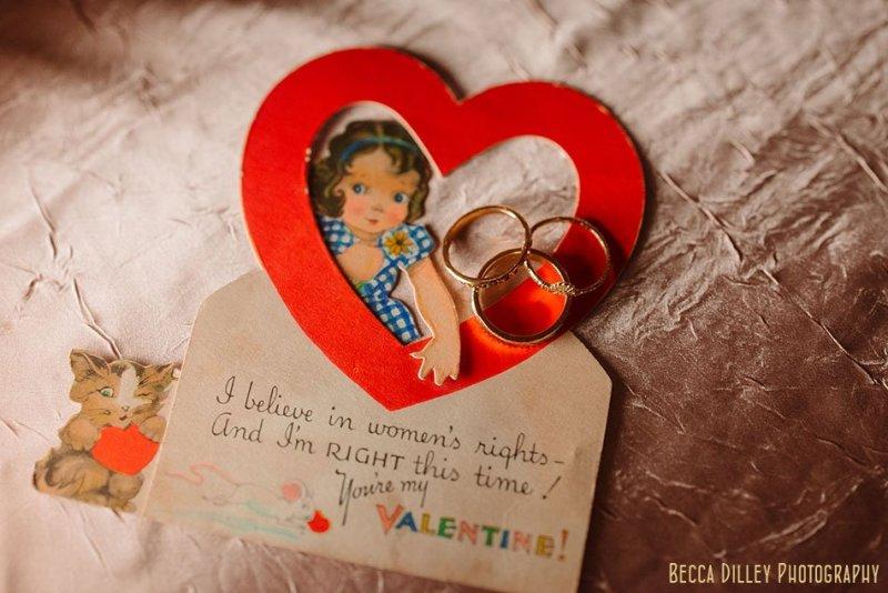wedding rings on vintage valentines st paul college club winter wedding mn
