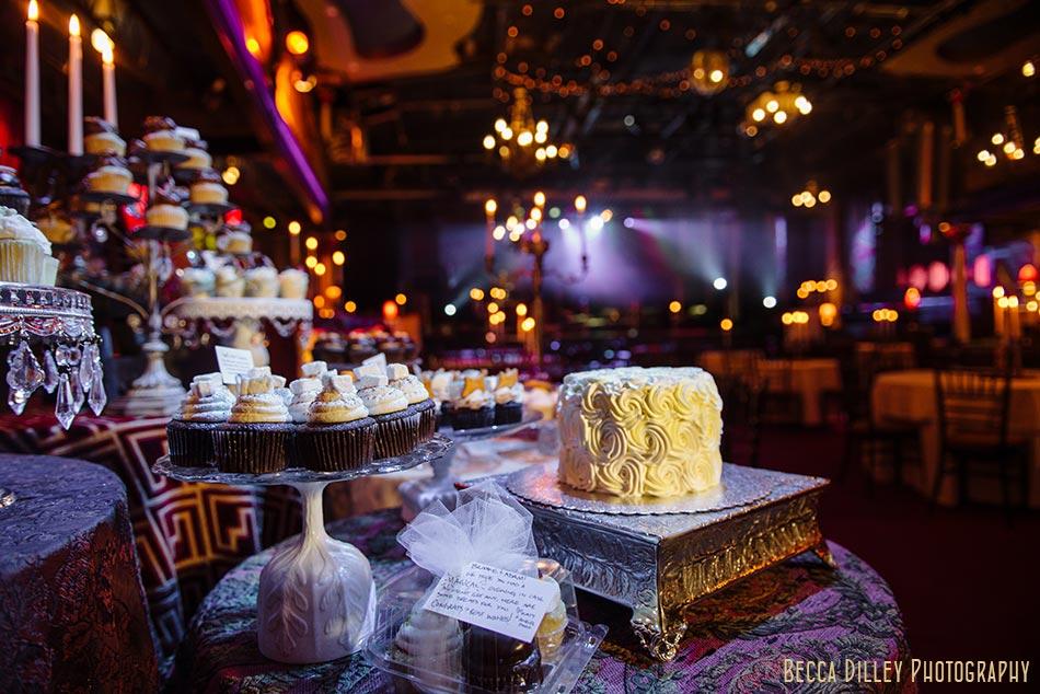 cake display minneapolis wedding photographer varsity theater april mn