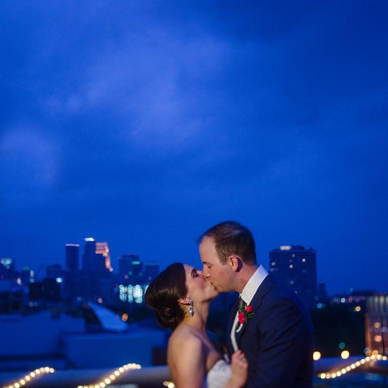 Campus club wedding - Cari and Mike's skyline-filled Minneapolis wedding
