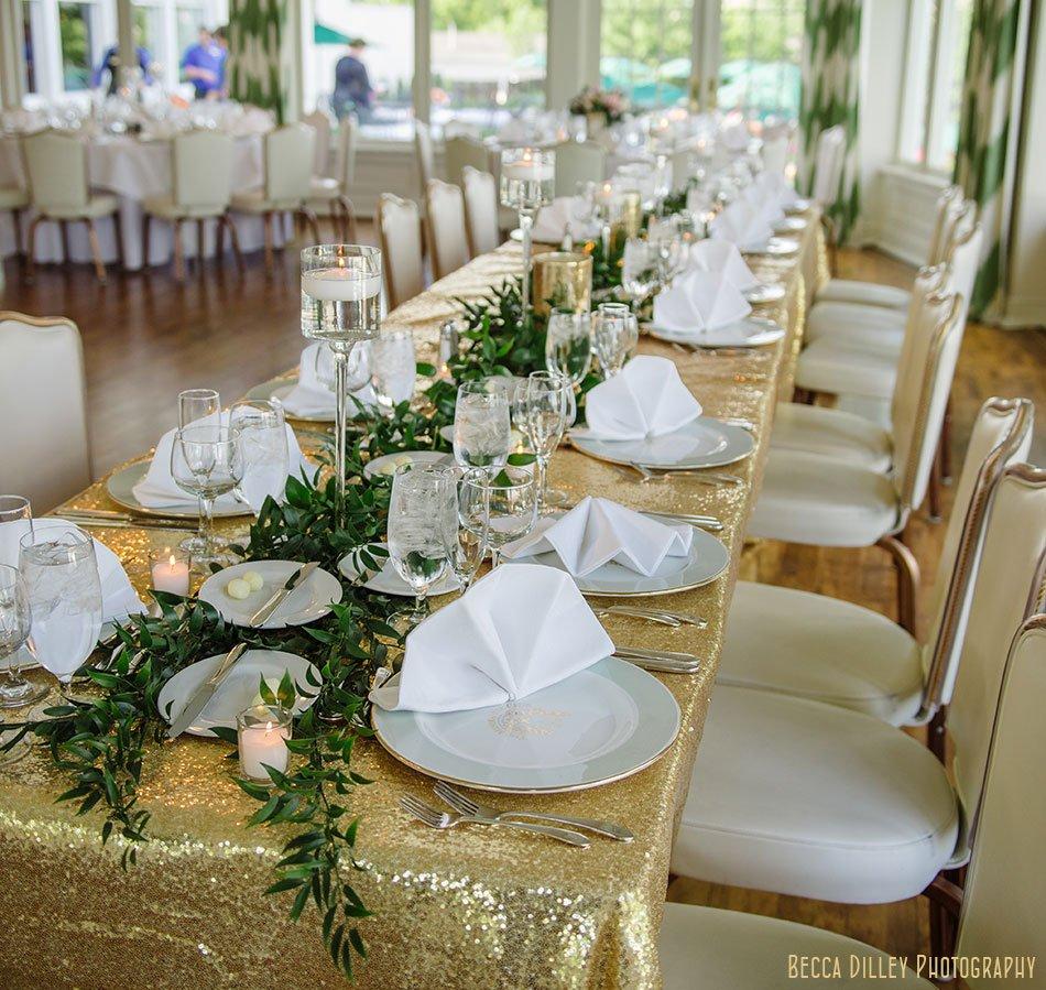 table settings Minikahda Club wedding minneapolis