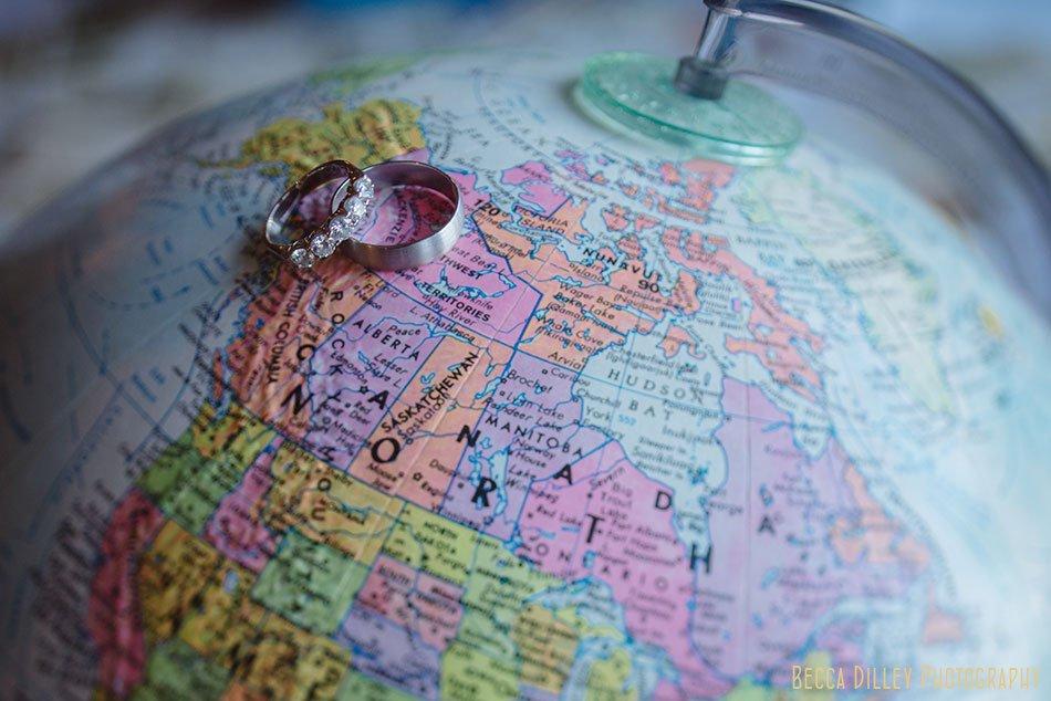 rings on globe Minikahda Club wedding minneapolis