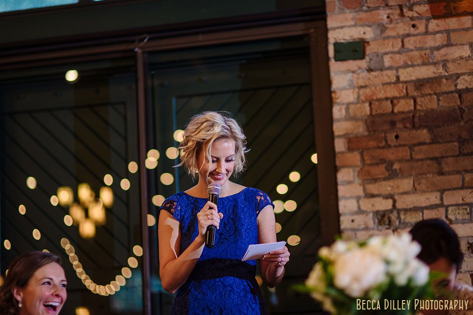 toasts Nicollet Island Pavilion Wedding Minneapolis
