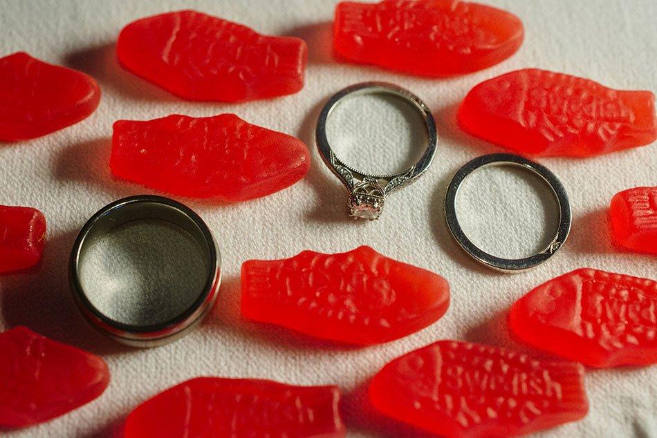 swedish fish with wedding rings