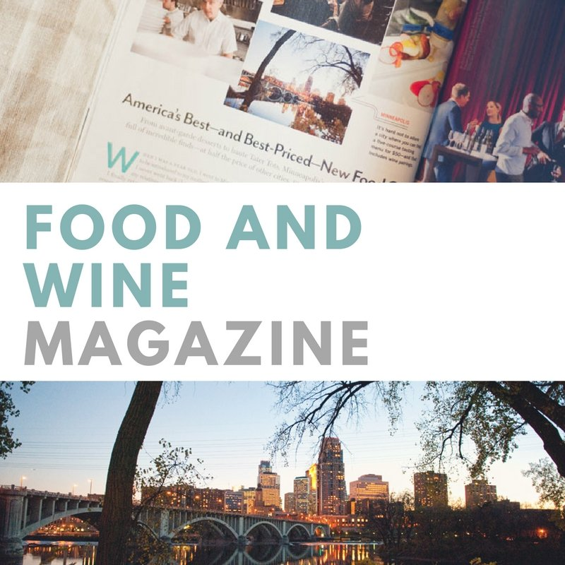 featured in Food and Wine Magazine