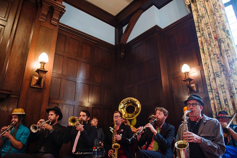 brass band lavish minneapolis club wedding