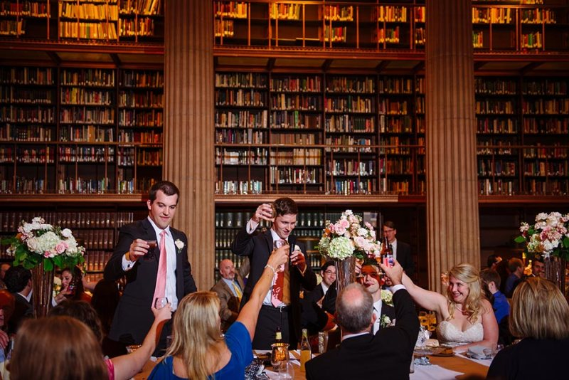 toast to bride and groom james j hill library wedding st paul mn photographer