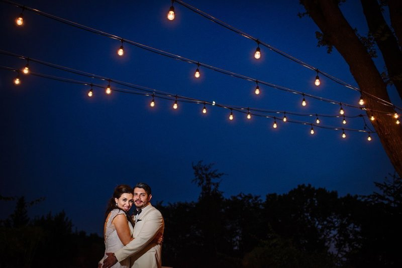 patio with lights wayzata country club wedding mn