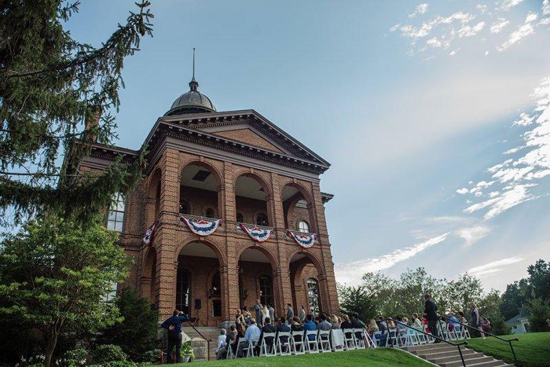 ceremony Stillwater Historic Courthouse Wedding mn
