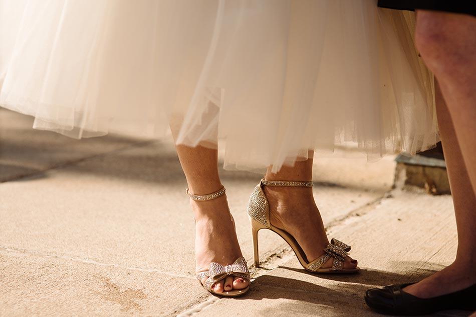 bride's shoes Theodore Wirth Wedding Minneapolis