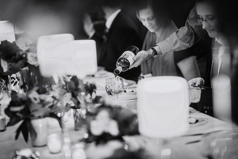 pouring wine Wedding at Minneapolis Club