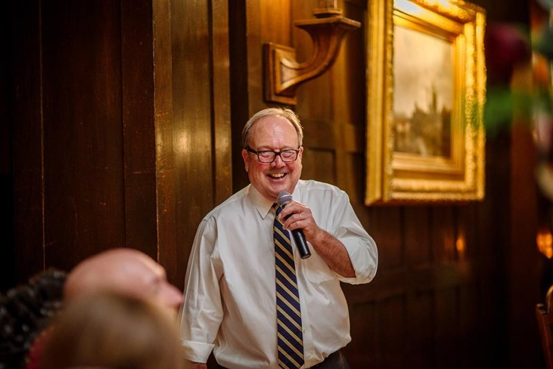 father gives toast Wedding at Minneapolis Club
