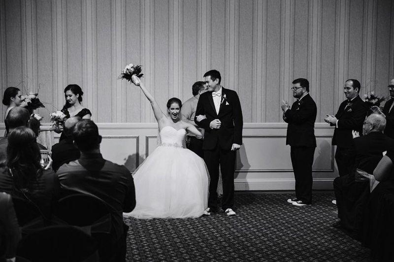 St Paul Hotel winter wedding mn