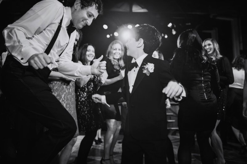 wild dancing fun minneapolis wedding at greek orthodox church and varsity theaterfun minneapolis wedding at varsity theater