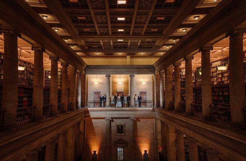 dramatic interior jj hill library wedding st paul photographer