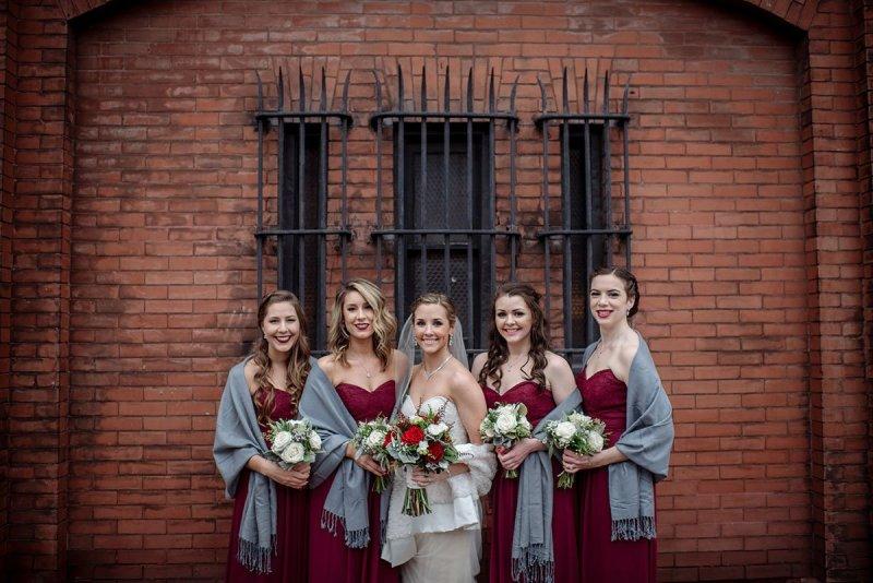 bridesmaid Aria Winter Wedding Minneapolis