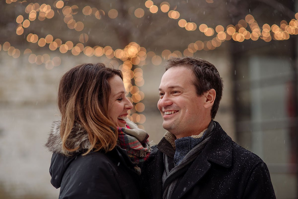 Engagement photos at Young Joni in Mineapolis