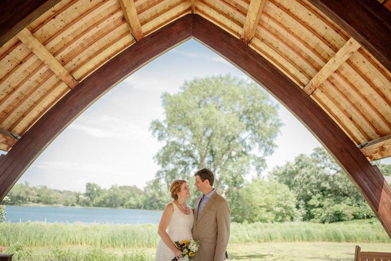 scandinavian theme minnesota backyard wedding