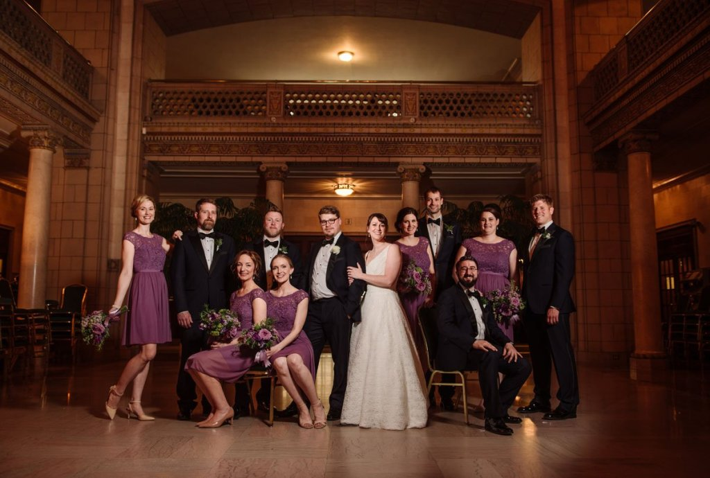 flash composite or wedding party at st paul athletic club wedding
