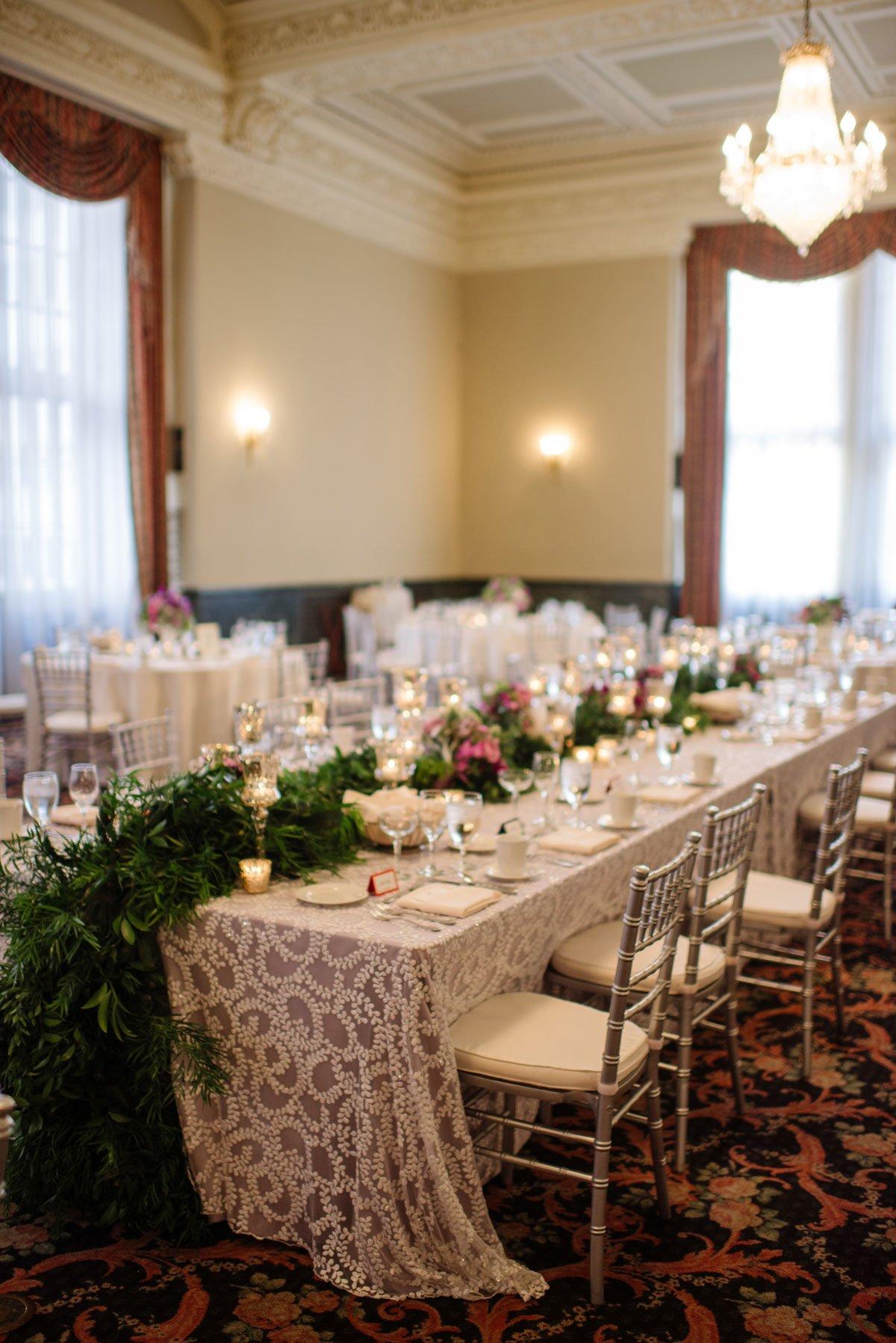 wedding reception at st paul athletic club wedding