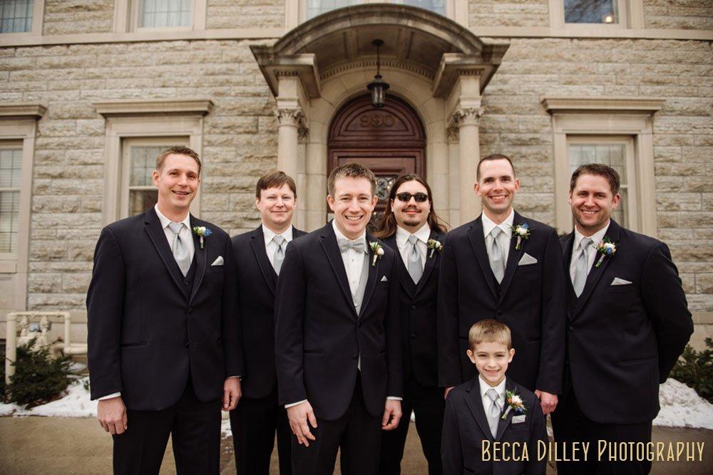 groomsmen St Paul College Club Wedding MN