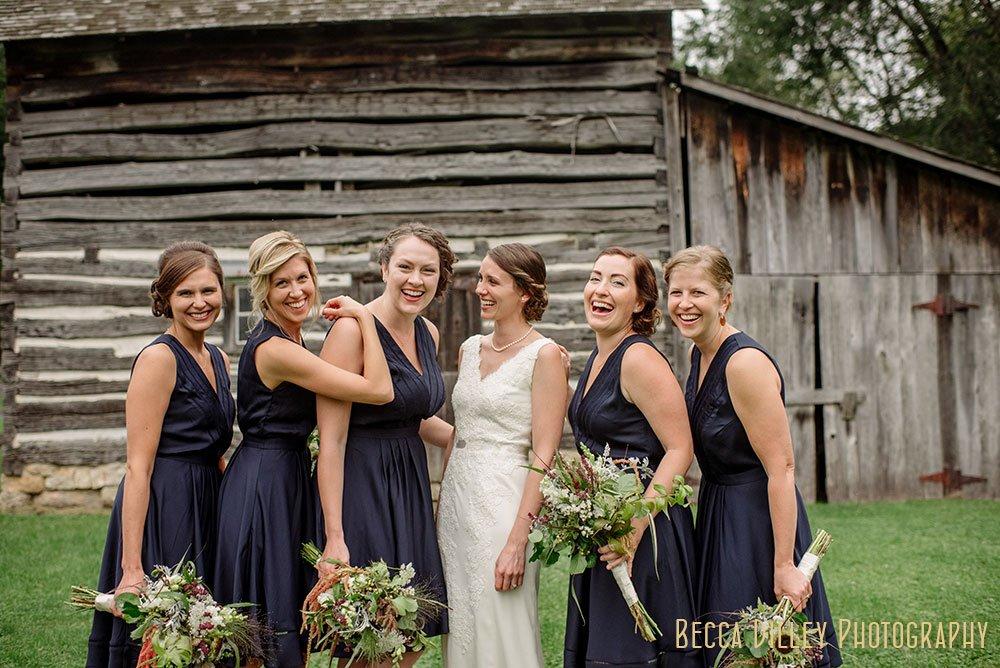Bridesmaids Norskedalen driftless WI wedding