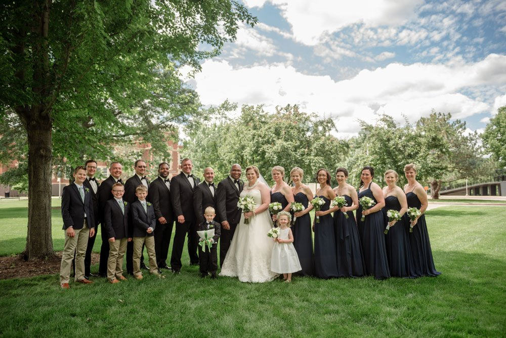 large wedding party eau claire wi wedding