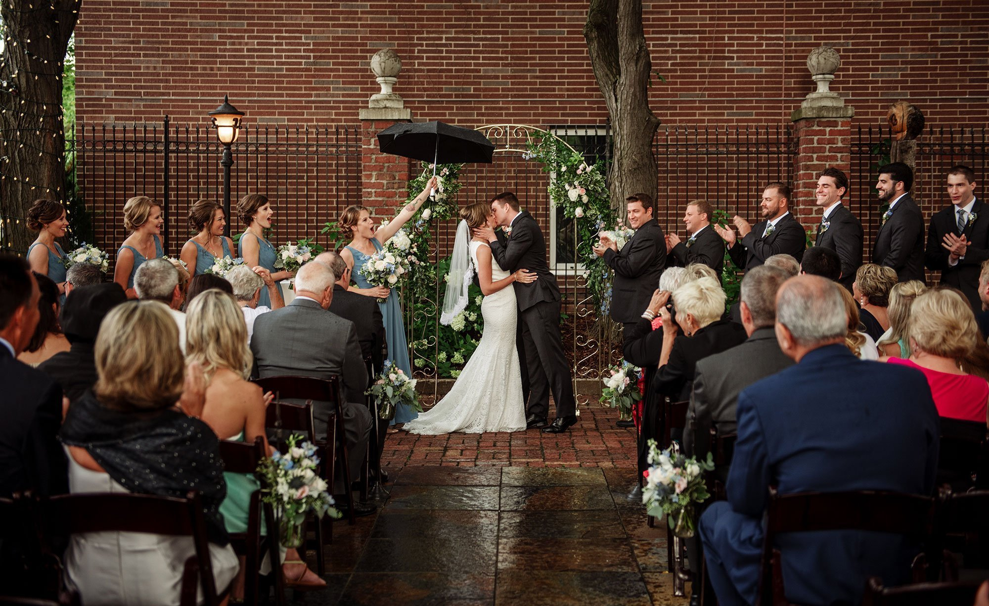 header image minneapolis event center wedding ceremony in rain