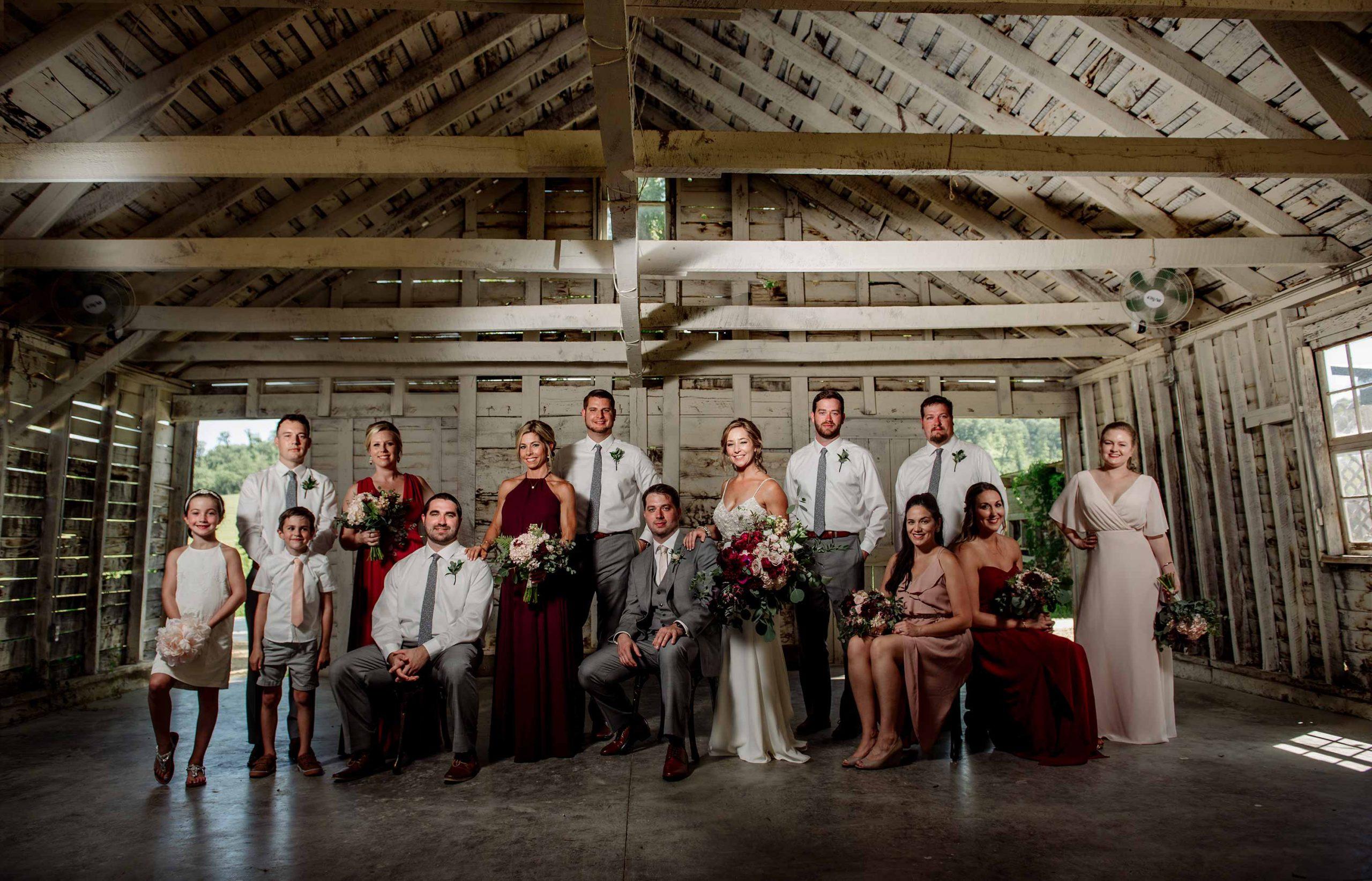 best minneapolis wedding photographer flash composite dramatic group portrait