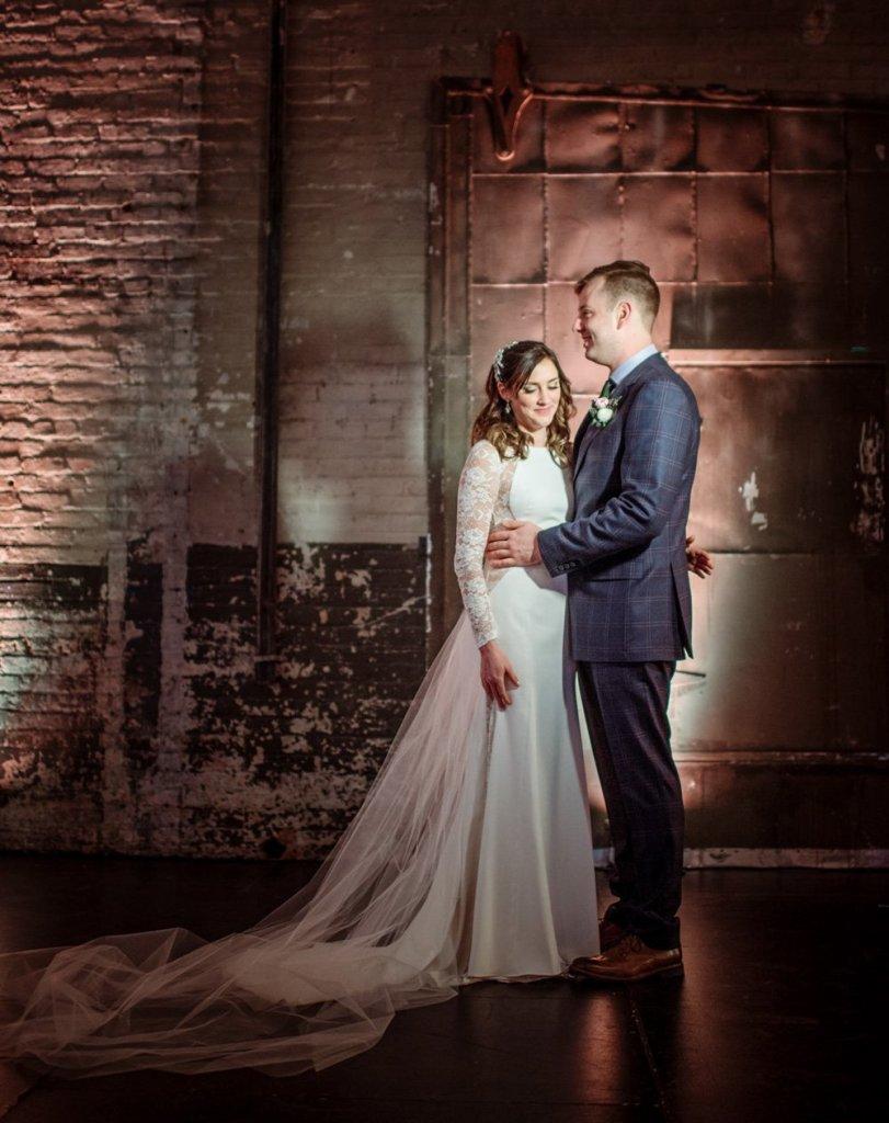couple inside aria wedding minneapolis