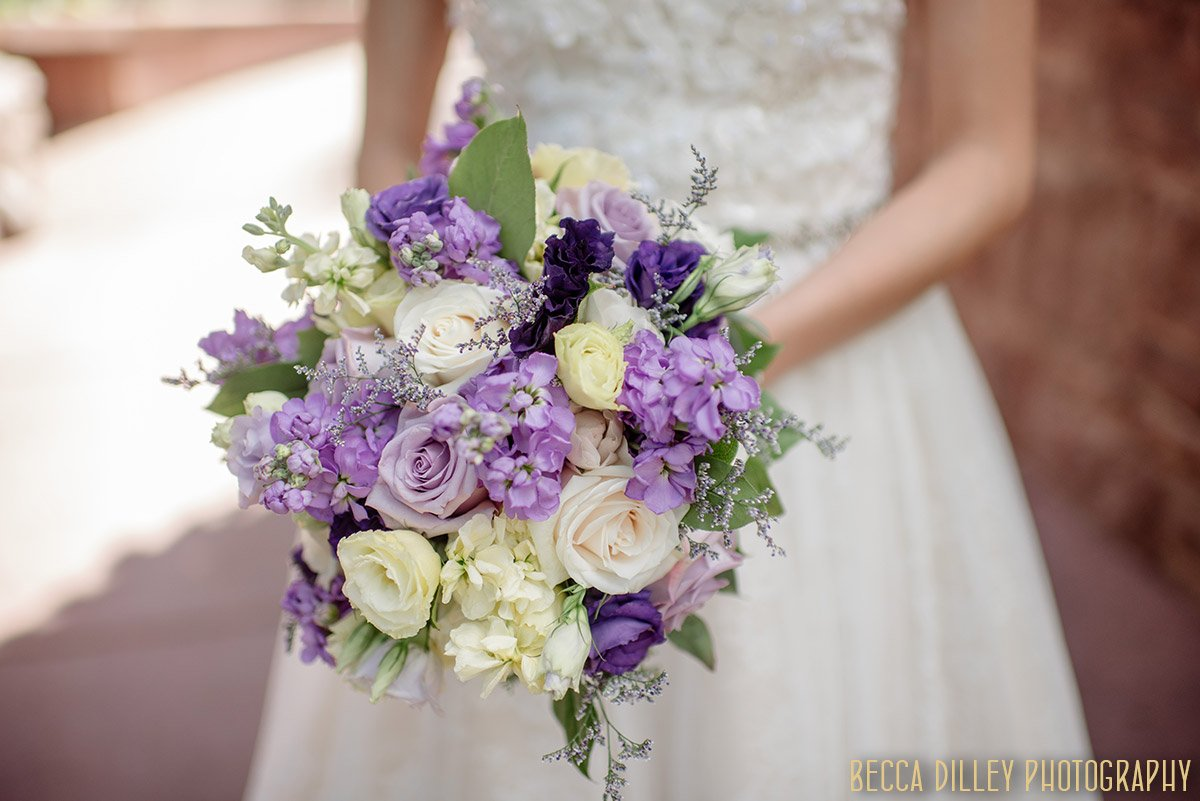 bridal flowers in purples and whites by summer harsh minneapolis
