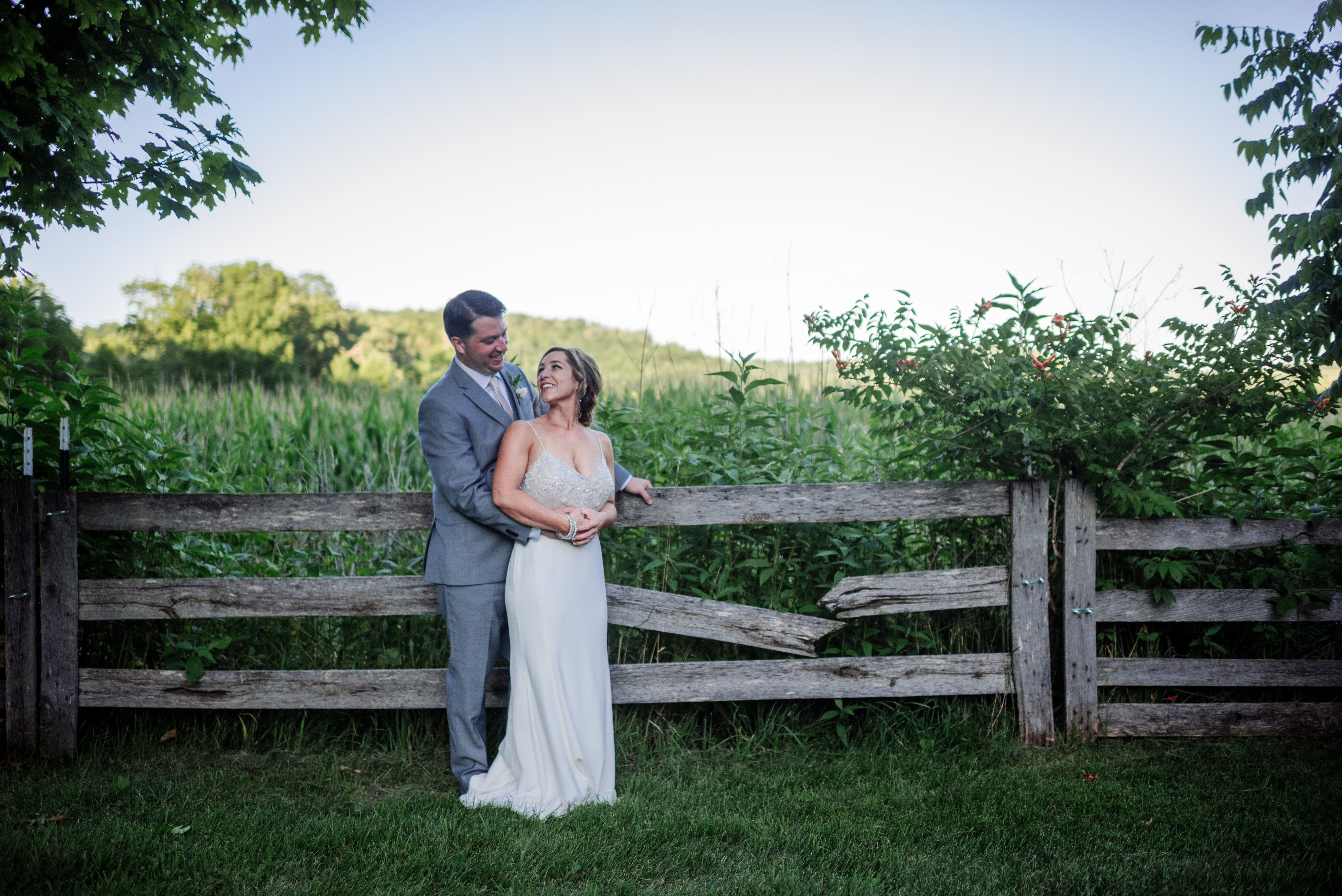 recommended wedding photographer rustic wi wedding
