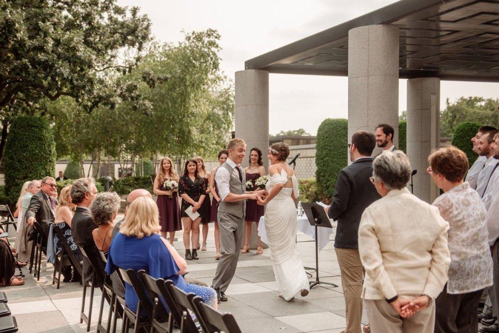 wedding ceremony at Minneapolis Institute of Art